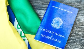 Brazilian work document and social security document on the tabl