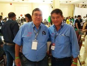 1º Secretário Pedro e Presidente Mário